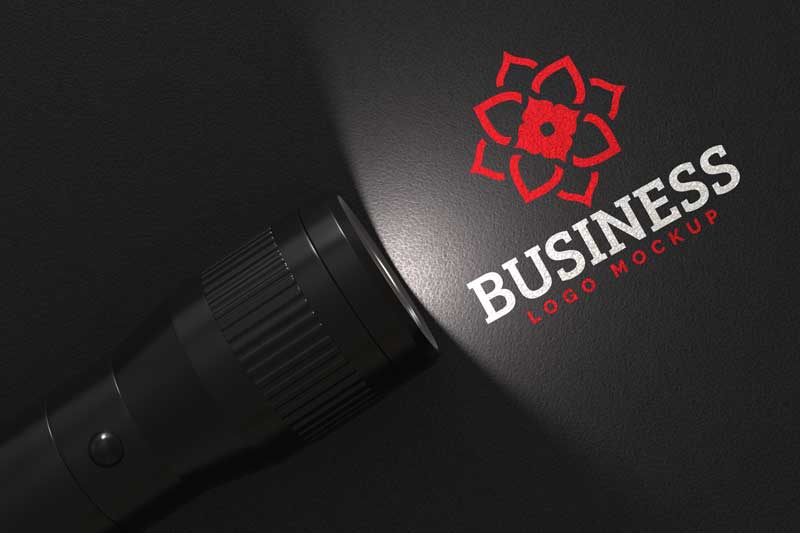 Flashlight Logo Mockup