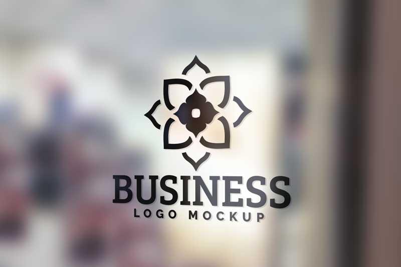 Glass Wall Logo Mockup