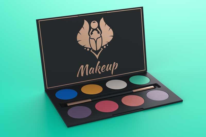 Makeup Box Logo Mockup