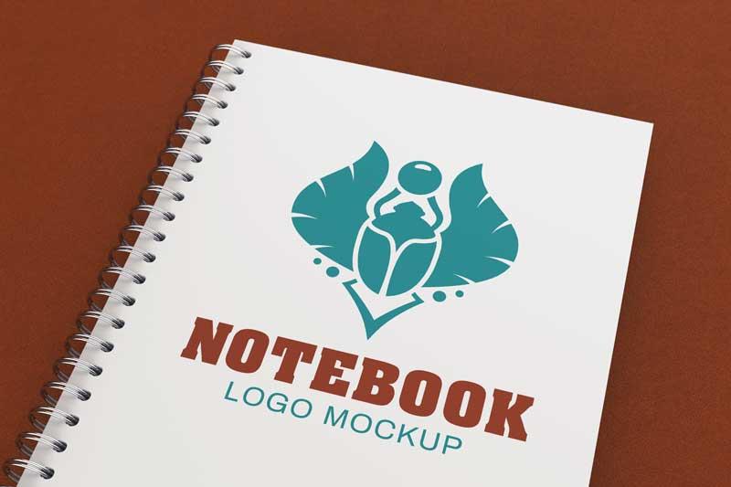 Notebook Logo Mockup