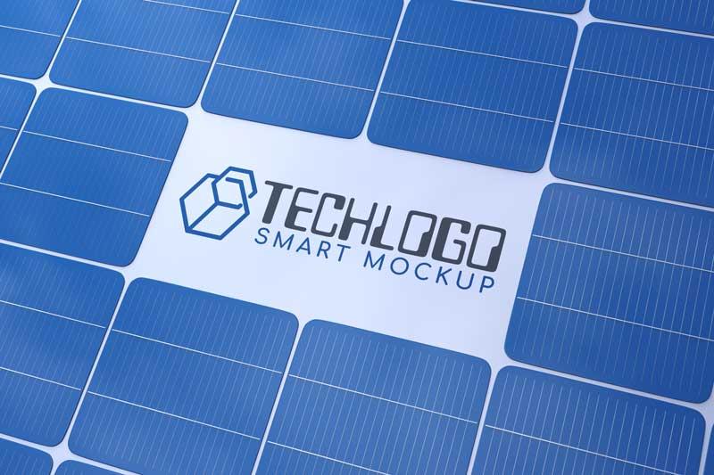 Solar Panel Logo Mockup