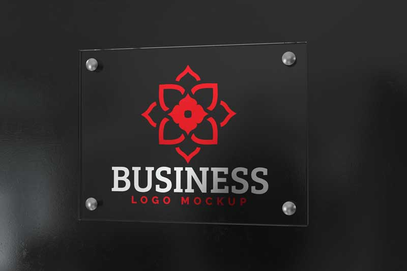 Wall Sign Logo Mockup