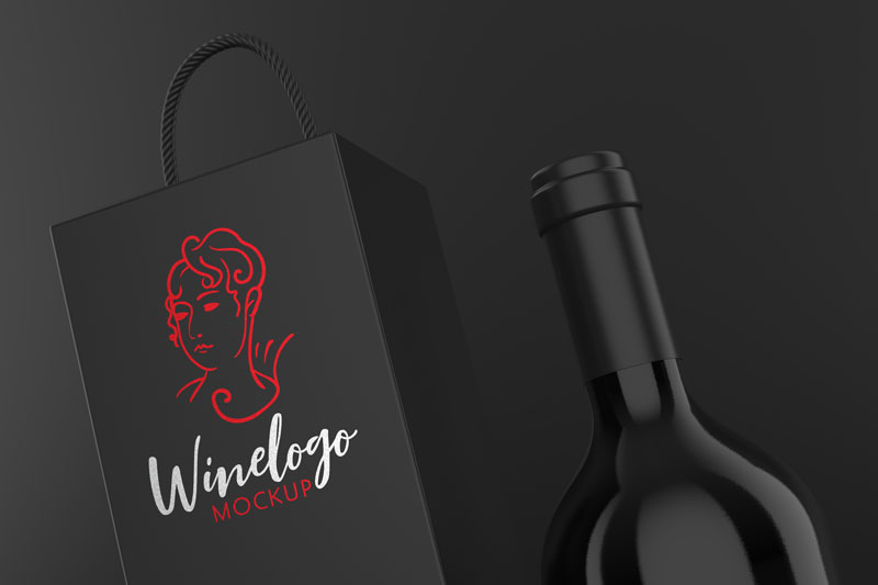 Wine Logo Mockup