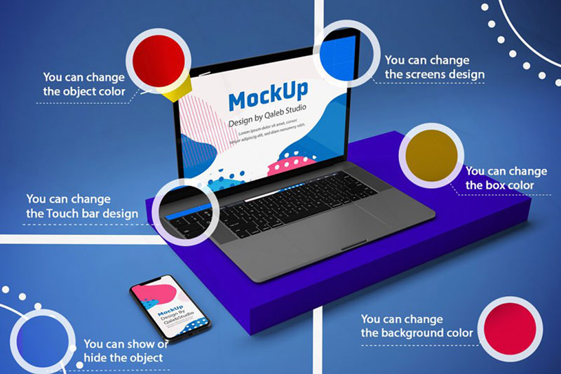 Abstract Responsive Mock Up
