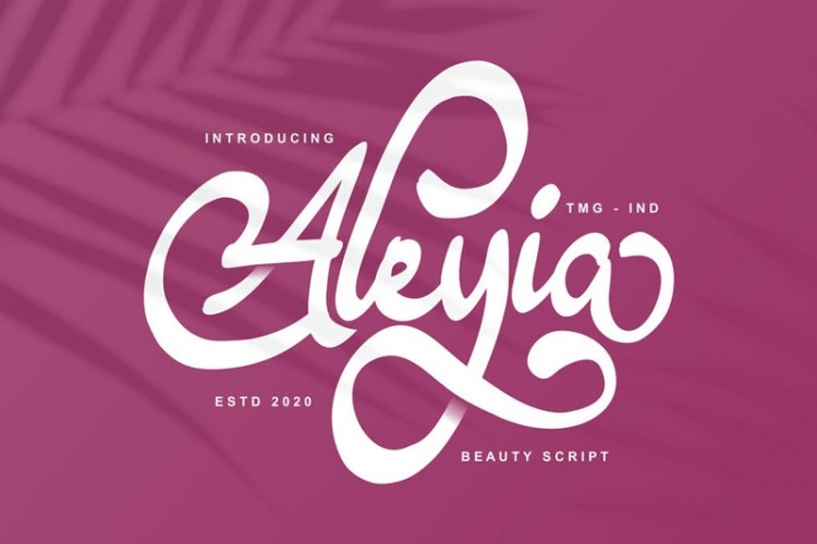 Aleyia Beauty Script Font