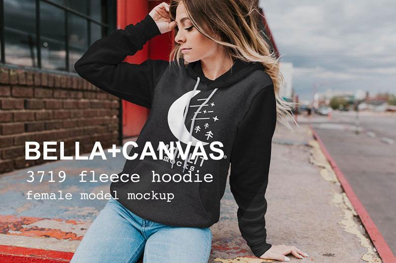 Bella Canvas Sweatshirt Mockup 3719