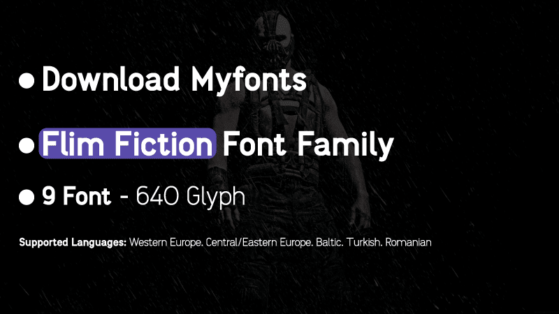 Film Fiction Sans Font Family free download