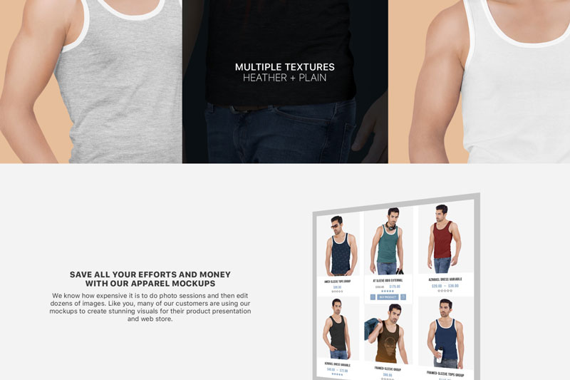 Mens Tank Top Mockup Set 2