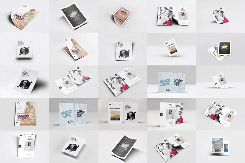 50 Flyer Poster Mockups Pack Download Free