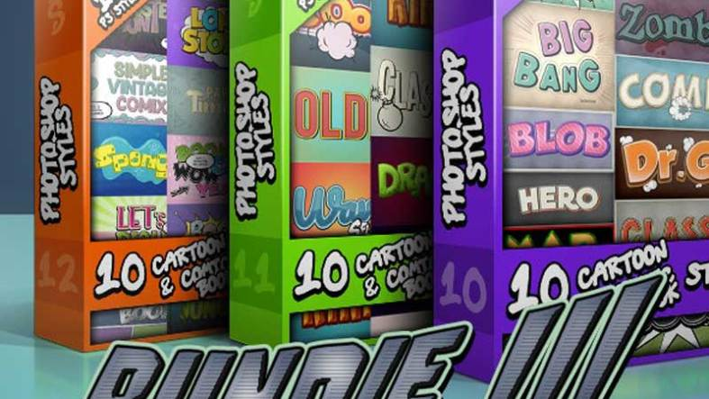 Cartoon and Comic Book Styles Bundle 4 Free Download