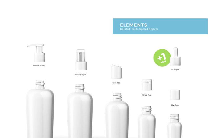 Cosmetic Bottles Mockup 2068617