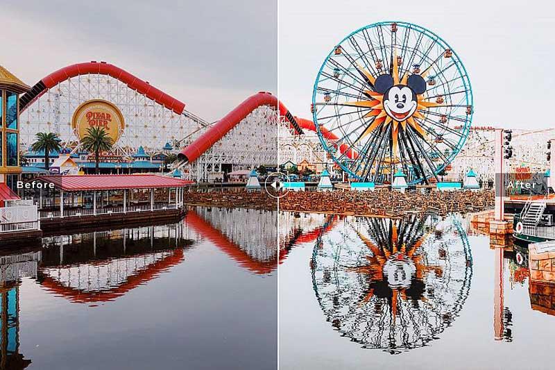 Disneyland Mobile 2526 Desktop Lightroom Presets Download Free