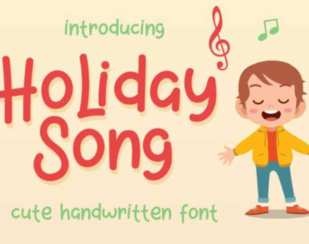 Holiday Song Font Family