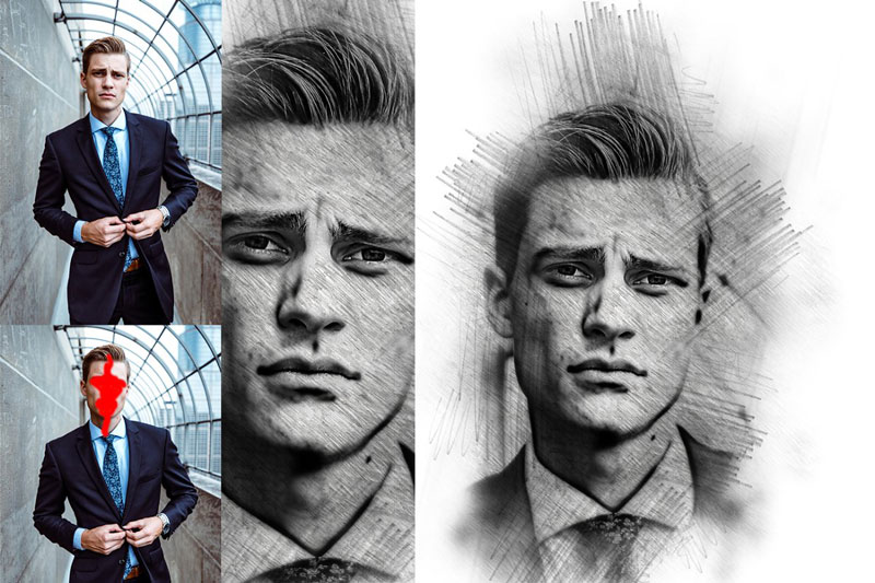Pencil Sketch Photoshop Action 2