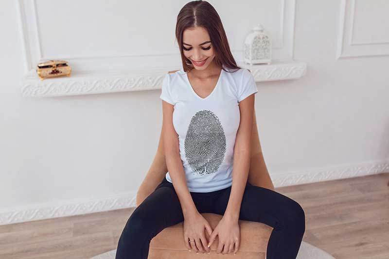 T Shirt Mock Up with Hot Model 1