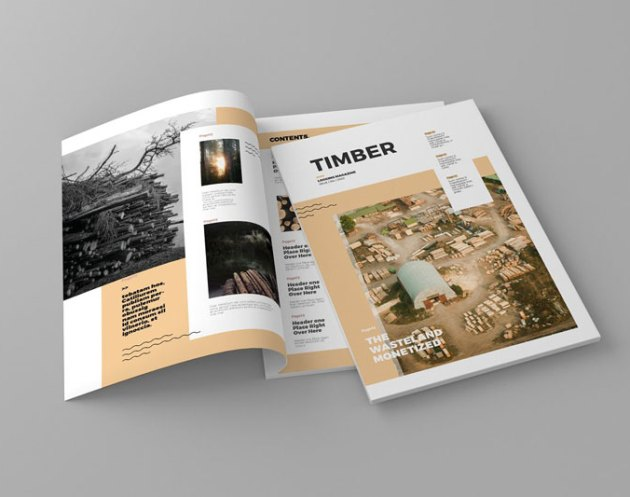 Timber Magazine Template Free Download