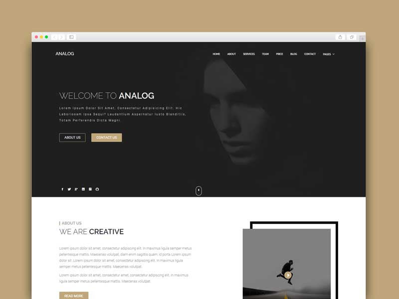 portfolio blogger template free download