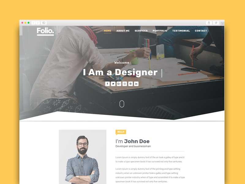 personal portfolio blogger template