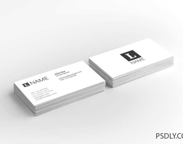 4 in 1 Business Card Mockup Set
