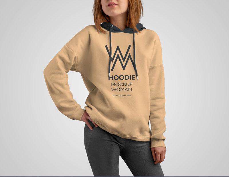 8 Mockups Woman Hoodie