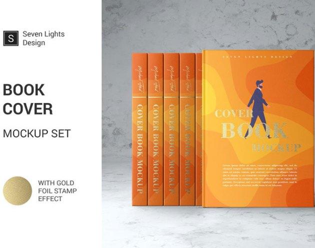 Book Cover Mockup Set 4126980