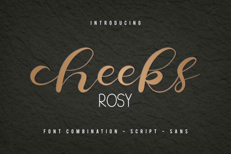 Cheeks Rosy Font 519201