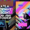 Create a Vaporwave Iridescent Artwork using Photoshop
