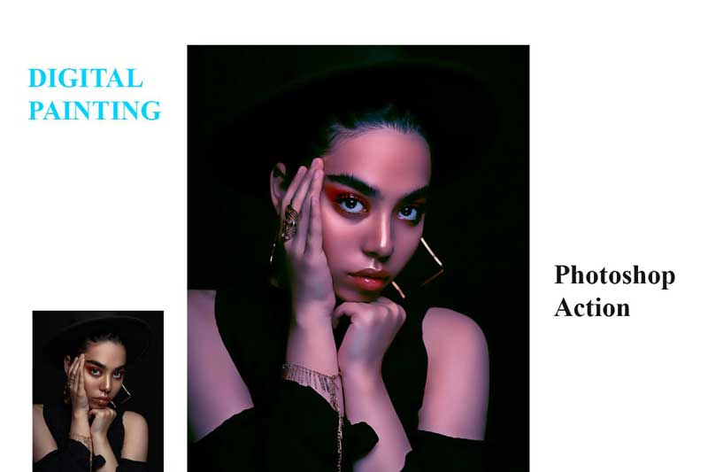 Digital Painting Photoshop Action 4557382 Download