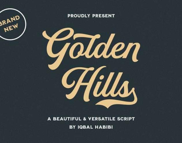 Golden Hills Script Font 4005026
