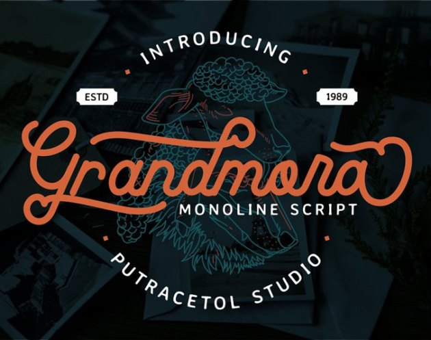 Grandmora Monoline Script Font 4689511