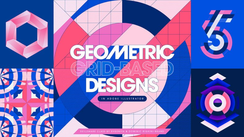 Mastering Illustrator Tools 2526 Techniques for Creating Geometric Grid Based Designs
