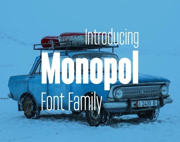 Monopol Font Family Free Download