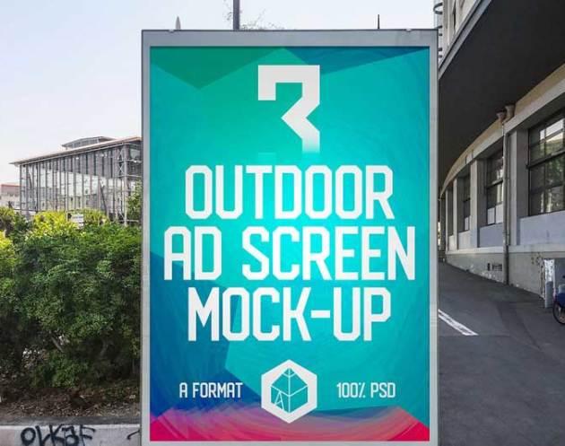 Outdoor Ad Screen MockUps 11