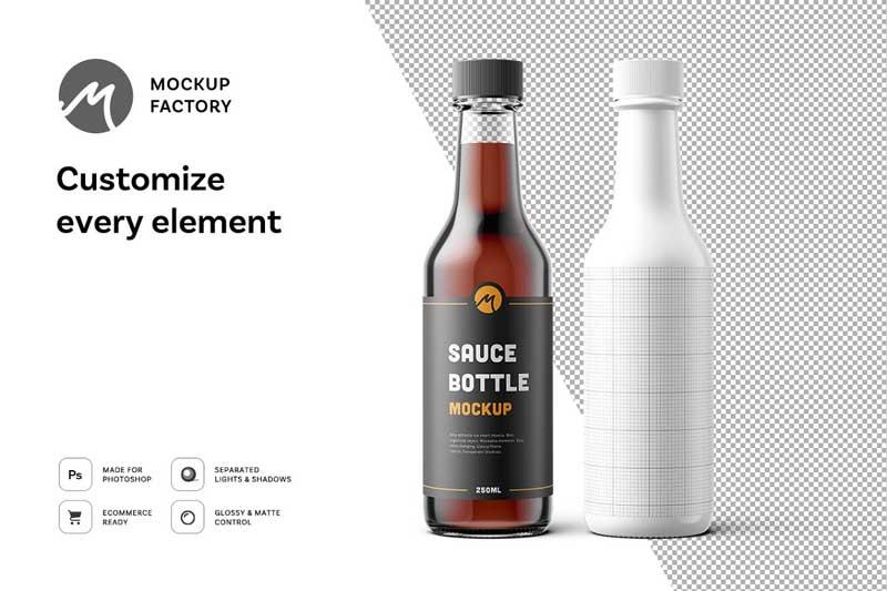 Sauce Bottle Mockup 1