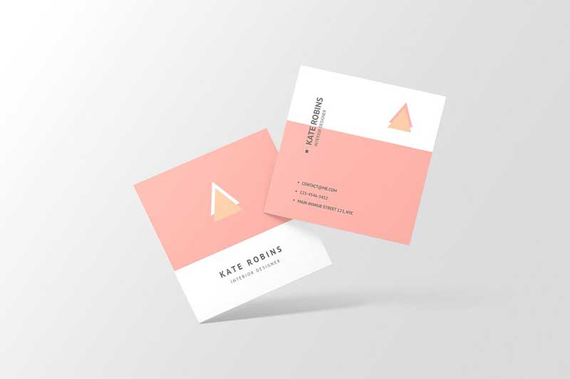Square Business Card Mockup 4566160 Download Now Free
