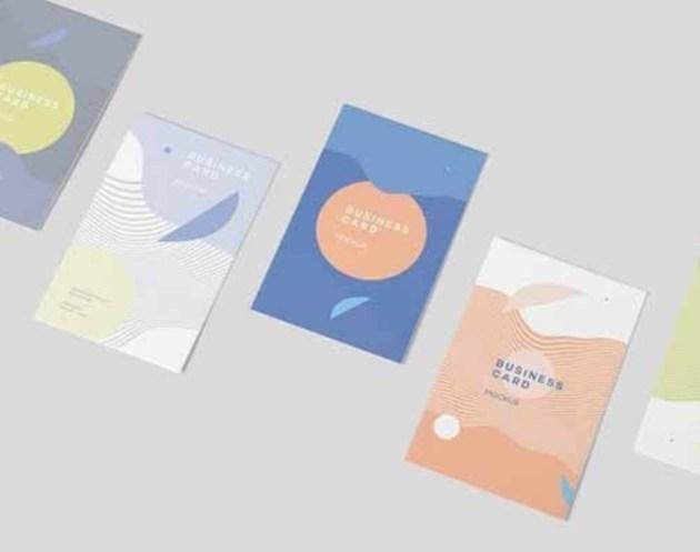Vertical Business Card Mock ups