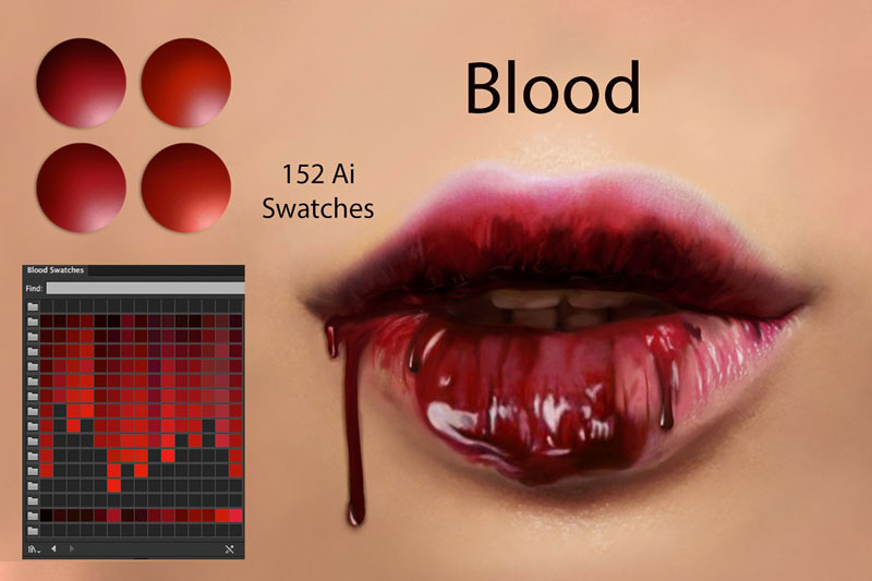 Blood Ps & Ai Swatches 2879560