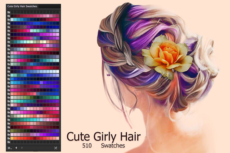 Cute Girly Hair Swatches 2874579
