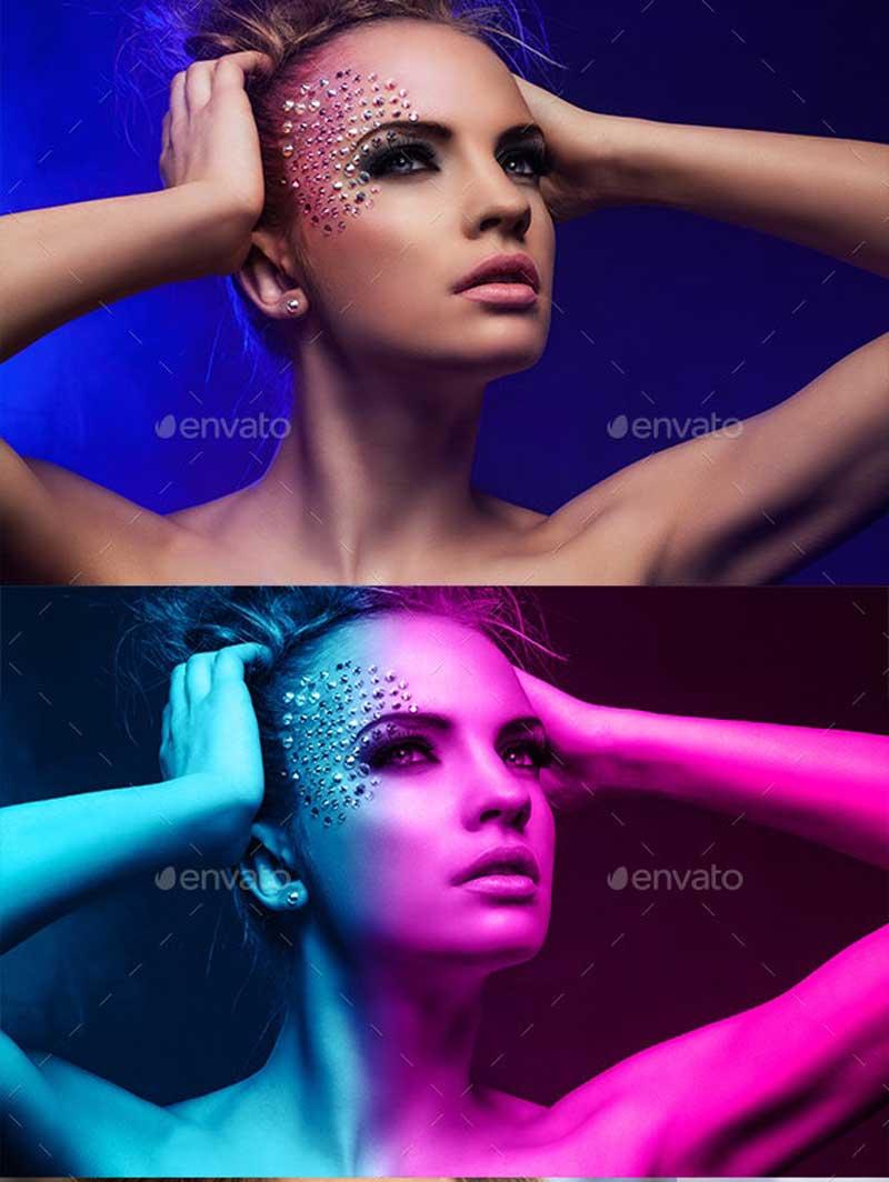 Cyberpunk Photoshop Action Template 25900482