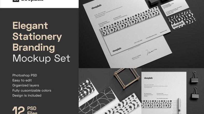 Elegant Stationery Branding Mockup 4433253