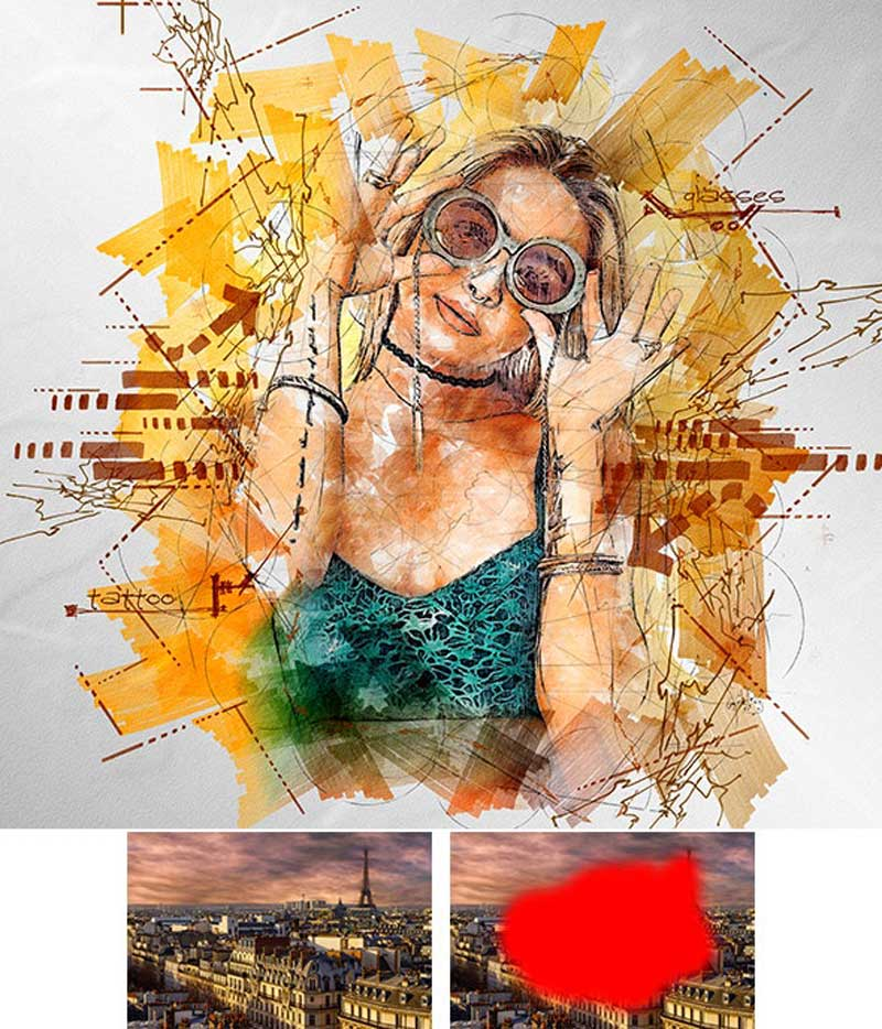 Graphic Marker Photoshop Action 26130639