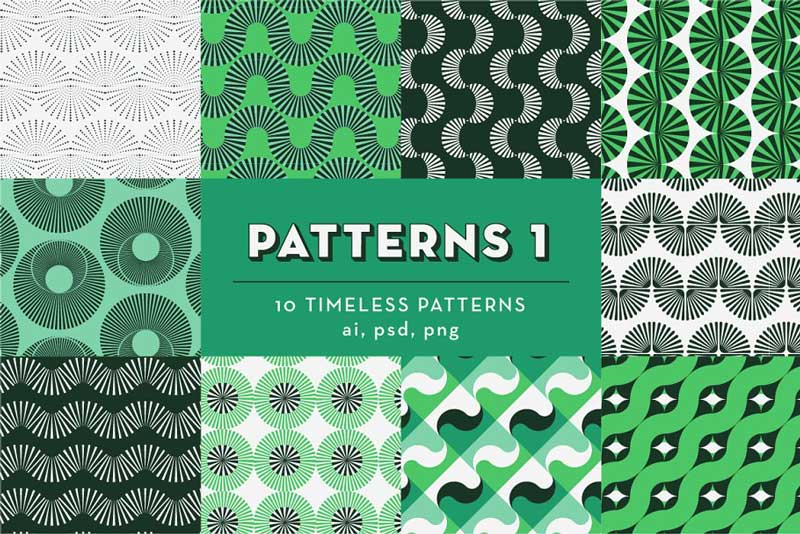 PATTERNS BUNDLE: 100 Geo Patterns 2429781