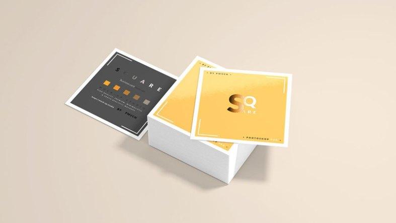Square Business Card Mockups 4752802