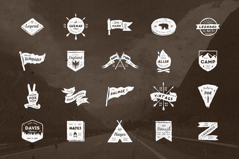 20 Vintage Grunge Badges 126489