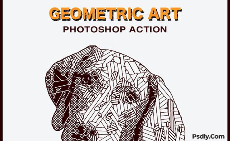 Geometric Art Photoshop Action 26621418