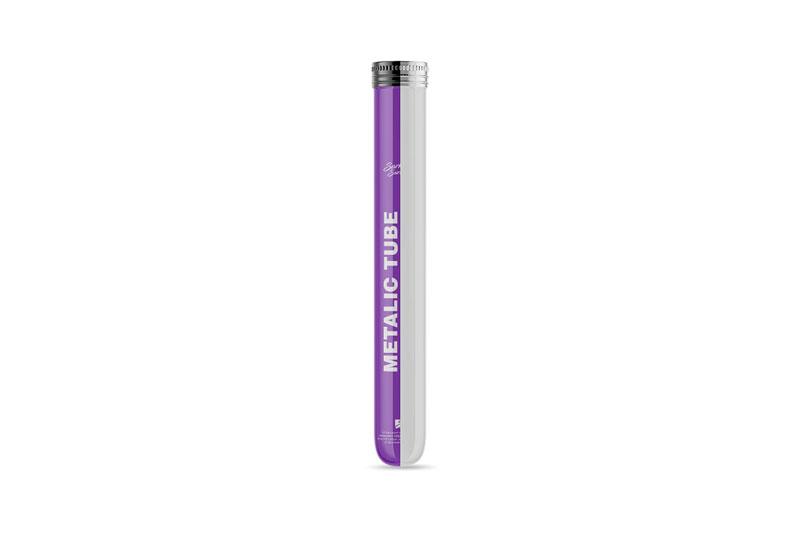 Glossy Metallic Cigar Tube Mockup 4963488