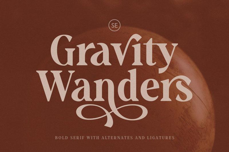 Gravity Wanders - Stylish Bold Serif 4756775