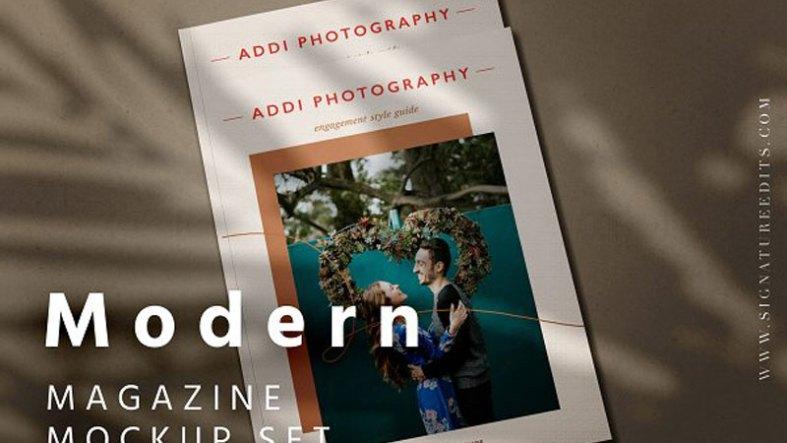 Modern Magazine Mockup Set 4675509