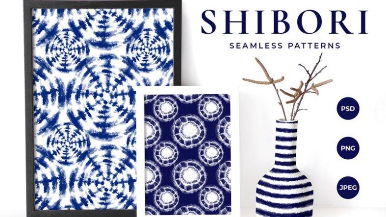Shibori Tie Dye Seamless Patterns 4899724