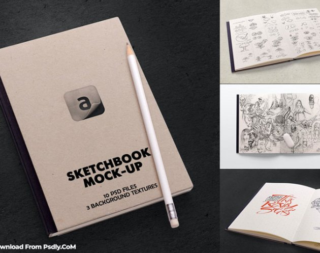 Sketchbook Mock up Free Download